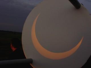 Größte Bedeckung der Sonne durch den Mond, 5.27 Uhr ; ca. 87 %