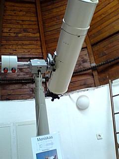 Dieses Teleskop stand 1961 als erstes Fernrohr hier in der Kanenaer Kuppel. Foto: Klaus Gedicke