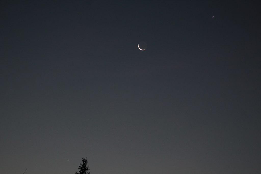 Merkur, Mond und Venus