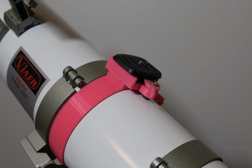 Halterung für Spielgelreflex-Kamera, huckepack auf dem Vixen-Teleskop