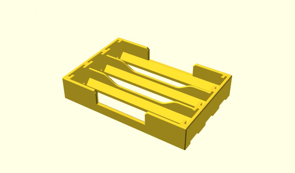 3D Modell Batteriefach