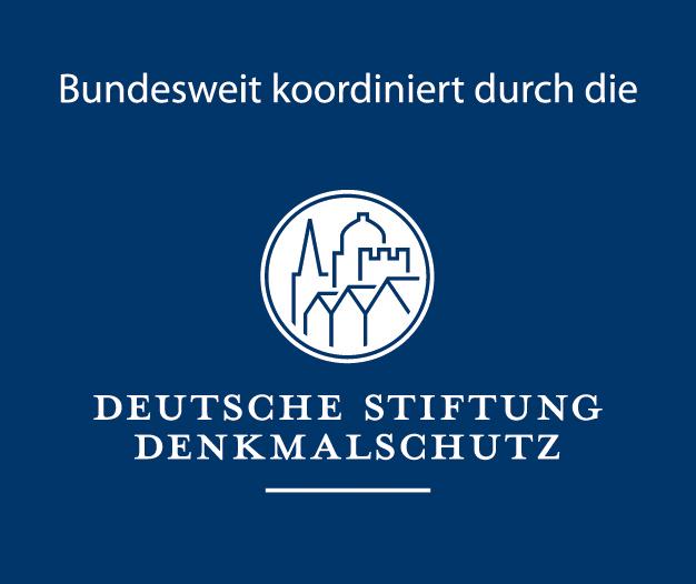 """Logo """"Bundesweit koordiniert durch die Deutsche Stiftung Denkmalschutz"""""""
